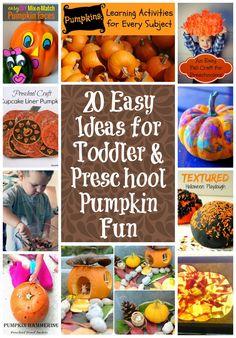 20 Easy Ideas for Toddler and Preschool Pumpkin Fun