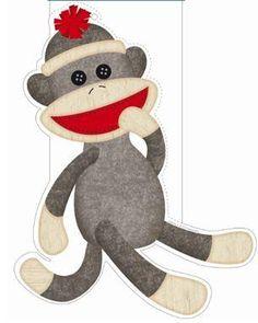 Sock Monkey On Pinterest Monkeys Nursery And Felt Flower Wreaths