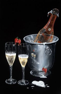 Champagne Kiss by Michael Godard