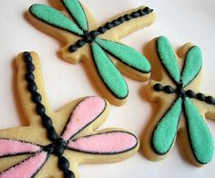 Dragonfly cookies!