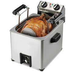 The Only Indoor Rotisserie Turkey Fryer - Hammacher Schlemmer