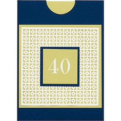 40th Birthday Card How-To