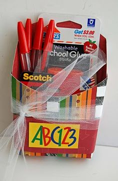 This blog has tons of gift basket ideas.... some really cool teacher gifts.... and with fun printable tags too!