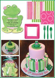 Girly Frog Birthday - www.thecakeblog.com