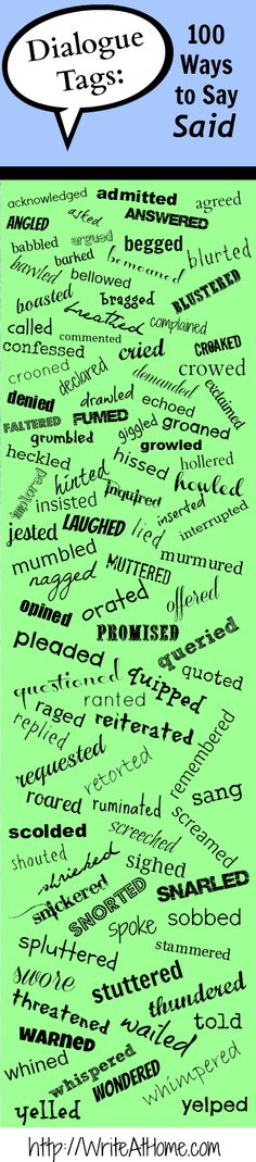 100 Ways to Say Said