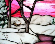 Stained Glass Photography  Snowy Winter by JudithKimberPhoto, £20.00