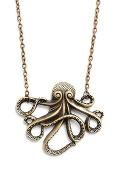 My Pet Octopus Necklace, #ModCloth