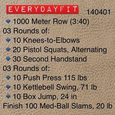 #EveryDayFit 140401 #crossfit #wod #workout