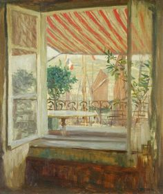 View from a cafe in Fecamp, 1904 T. F. Simon