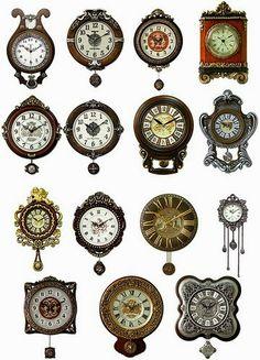 clock snip, antique clocks, clock wall, old clocks, wall clocks, paper crafts, tick tock, antiques, antiqu clock