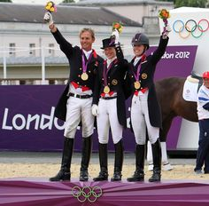 Gorgeous smiles and styles on the gold medal winning British dressage team
