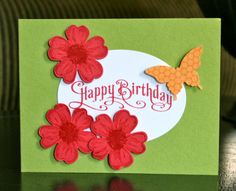 Stampin' Up! CAS Birthday Card by Krystal's Cards and More: Flower Shoppe