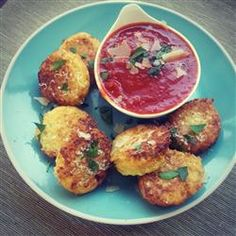 """Cauliflower Fritters 