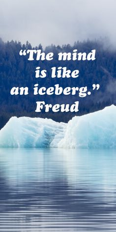 """""""The mind is like an iceberg.""""  Freud  -- Explore the process of creative associations at http://www.examiner.com/article/how-to-build-creative-associations"""