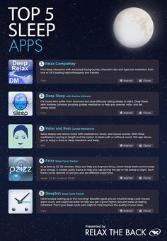 Top 5 Apps to Help You #Sleep - Comfort Zone By Relax The Back