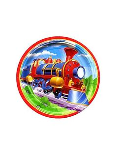 Train Party Cake Plates