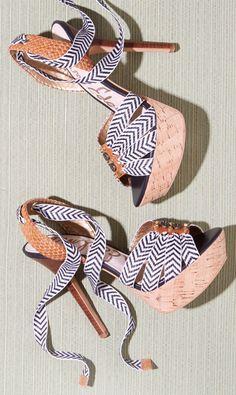 Lace up chevron sandals
