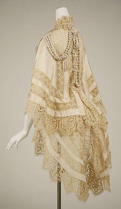 Mantle 1863, British, Made of silk
