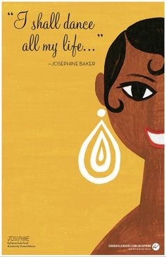 Happy Birthday, Josephine Baker!   Artwork by Christian Robinson from the forthcoming illustrated biography, Josephine: The Dazzling Life of Josephine Baker.
