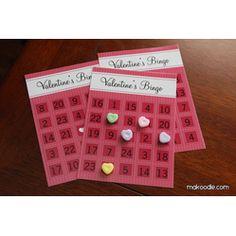 Valentine Bingo Free Printable #Download  #Free #Valentine #Printables