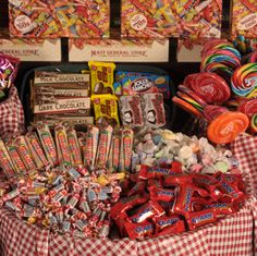 candy display at Mast General Store