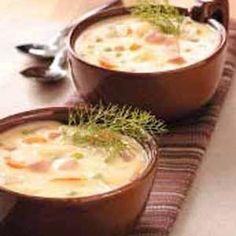 Ham & Cheddar Soup w/ Potatoes