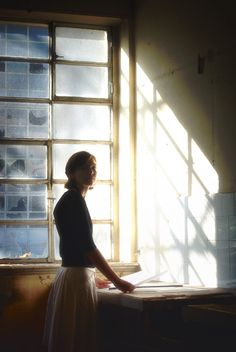 in the glow of morning light