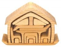 Wooden All-in-House Dollhouse - Little Spruce Organics -