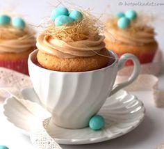 Caramel Bird's Nest Easter Cupcakes