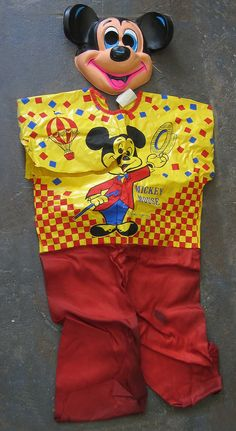1974 Halloween Mickey Mouse Ben Cooper Costume Tiny Tot Size 3-5 As Is Look!
