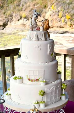 Lady and the Tramp wedding cake - I know you're not going to pick this one, but I love it!!