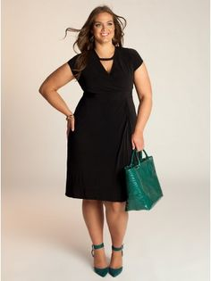 "Veronica Plus Size Dress - Work Dresses by IGIGI Model Info: Wearing Size 14/16, Height - 5'9"", Shape - Hourglass"