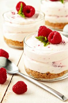 No Bake Raspberry-Lemon Cheesecake