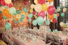 DIY balloon surprise birthday party.