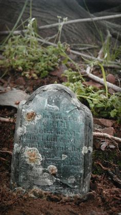 Miniature Tombstone by LDelaney on Etsy, $15.00