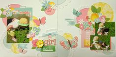 a girly girl layout by Nicole Doiron