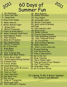 A To Do List of Fun!