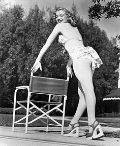 """Scudda Hoo! Scudda Hay! is a 1948 comedy film which is generally considered to be Marilyn Monroe's """"film debut"""" (although most of her footage was cut and she only has a brief one-line scene). I mention this film in 1947. It was released in 1948. But the year of filming is 1947. The film is insignificant in the career of Marilyn. Here are some promo photos of Marilyn for the movie."""