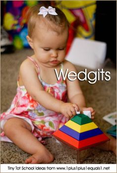 Tiny Tot School Ideas ~ 9-12 months // WEDGITS #babyplay #totschool