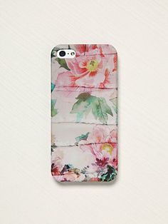 Free People flower iPhone case.