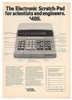 Victor Series 1800 Scientific Calculator (1973). I recently purchased a hand-held scientific calculator at Dollar Tree for one dollar!