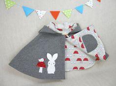 Bunny Capelet  Children Cape Easter Poncho Bunny by ViolaStudio, $119.00