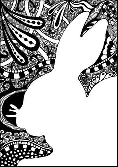 I love the idea of tangling the negative space. Zentangle Art