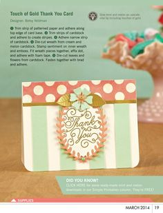 Touch of Gold Card by Betsy Veldman - TO DIE FOR!
