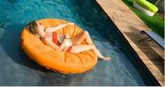 Float your worries away on the super comfy Sunsoft Circular Inflatable #PoolFloat. Perfect for #poolside relaxation.