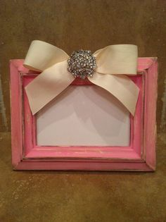 DIY picture frame but with burlap flower instead of ribbon