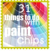 Paint chip and paint swatch ideas