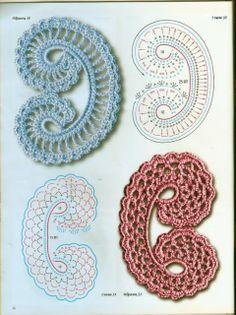 Jabot all'uncinetto - Crochet jabot   DODA CROCHET. ☀CQ #crochet #crochetflowers http://www.pinterest.com/CoronaQueen/crochet-leaves-and-flowers-corona/