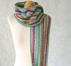 "Must make this with scrap yarn. It reminds me of the Dolly Parton song, ""Coat of many colors."""