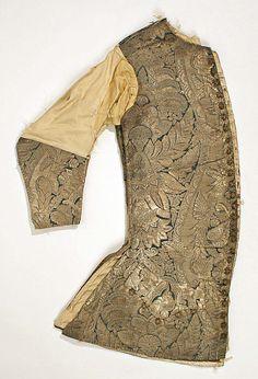 Waistcoat Date: early 18th century Culture: British Medium: silk